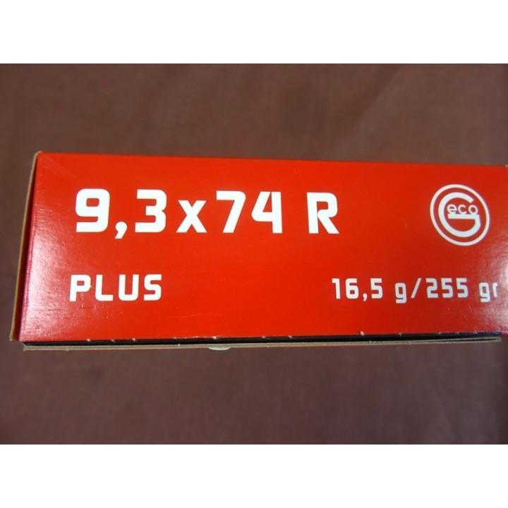 AMUNICJA  9,3X74 R PLUS  , 16,5 g /255 gr  GECO