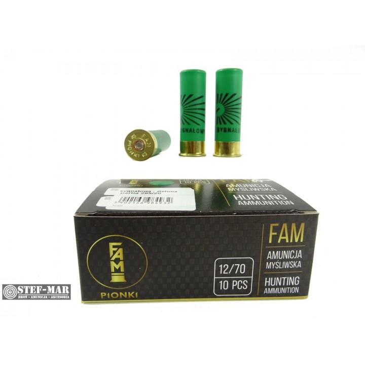 Amunicja sygnałowa FAM Pionki 12/70 zielona
