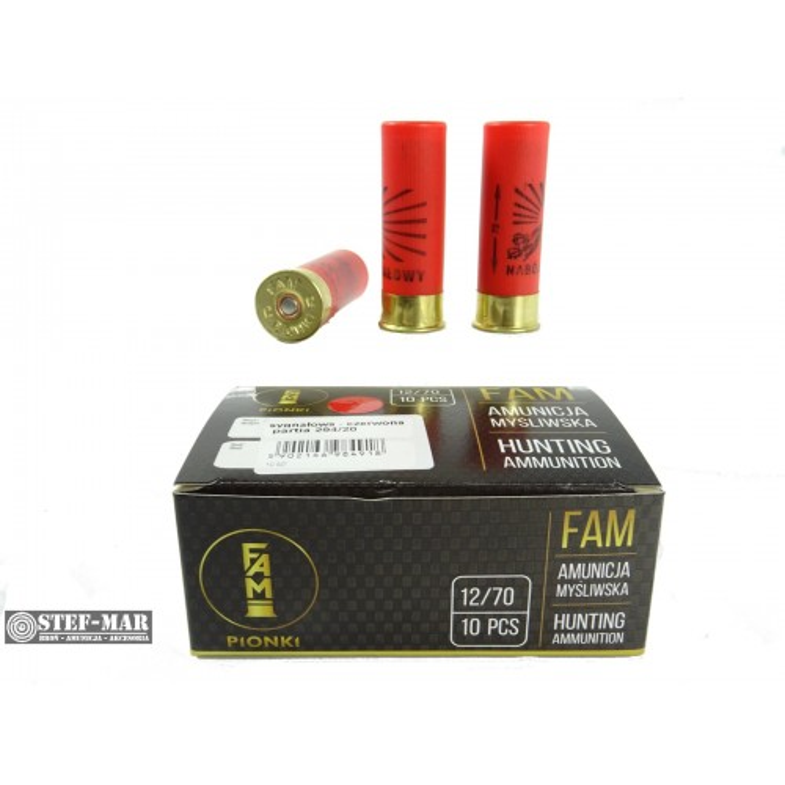 Amunicja sygnałowa FAM Pionki 12/70 czerwona [N1-8]