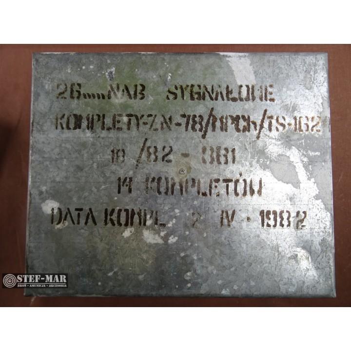Amunicja sygnałowa 26mm skrzynka 14x10 szt. [A11-2]