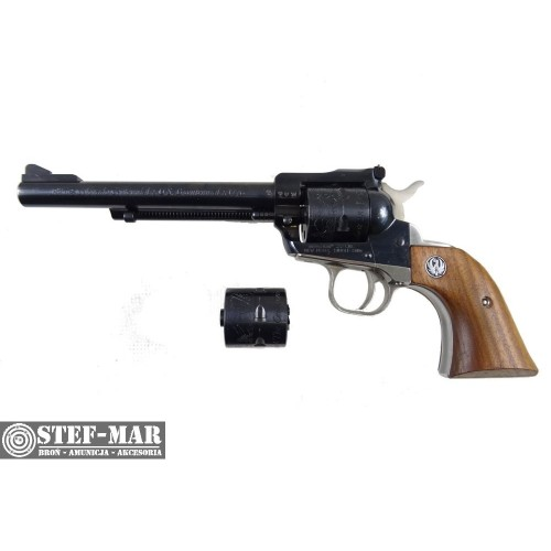 Rewolwer boczny zaplon Ruger New Model Single-Six, kal. .22 Mag + .22 LR [Z708]